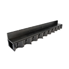 ACO HexDrain Brickslot 1m with Black Plastic Cover