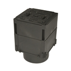 ACO HexDrain Brickslot Corner Unit with Black Plastic Cover