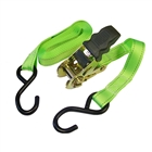 Faithfull Ratchet Tie Downs 5m x 25mm Breaking Strain 818kg (Pack of 2)