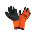 Scan Knit Shell Thermal Gloves Orange/Black