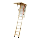 Youngmans Eco S Line Folding Timber Loft Ladder With Hatch