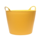 Faithfull Heavy Duty Polyethylene Flex Tub 42L Yellow