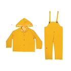 R101 0.35mm 3 Piece Rain Suit Yellow Size L