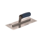 """Faithfull Notched Trowel 6mm Stainless Steel Soft Grip Handle 11 x 4½"""""""