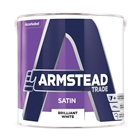 Armstead Trade Satin Brilliant White 2.5 Litre
