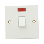 SMJ Electrical Double Pole Switch & Neon 20A