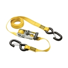 Masterlock Ratchet Tie Downs with S Hooks 3m (Pack of 2)