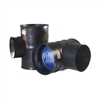 Polypipe Ridgidrain 90° Triple Socket Junction 150mm x 150mm JRD150150T