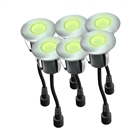 Easy Connect Round IP67 LED Decking Lights Warm White