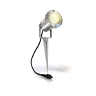 Easy Connect IP67 4W LED Spike Light Brushed Aluminium Warm White