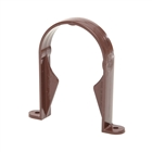 Polypipe Rainwater Round Pipe 68mm Pipe Socket Bracket Brown RR126