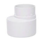 Polypipe Soil & Vent 110mm Socket Reducer to 68mm Rainwater White SD46