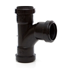 Polypipe Push-Fit Waste 50mm 91¼° Swept Tee Black WP56