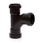 Polypipe Push-Fit Waste 40mm 91¼° Swept Tee Black WP22