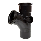 Polypipe Soil & Vent 110mm 112½° Single Branch Black ST403