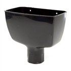 Polypipe Rainwater Round Pipe 68mm Hopper Head 204L x 130W x 130H Black RR130