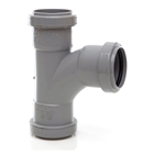 Polypipe Push-Fit Waste 50mm 91¼° Swept Tee Grey WP56