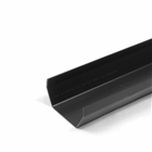 Polypipe Square Rainwater 112mm Gutter 2m Black RS200