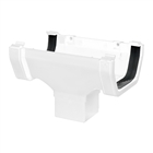 Polypipe Square Rainwater 112mm Gutter Running Outlet White RS205