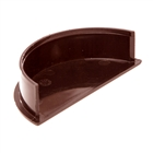 Polypipe Half Round Rainwater 112mm Internal Stop End Brown RR108