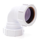 Polypipe Universal Compression Waste 40mm 90° Knuckle Bend White PS16