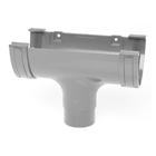 Polypipe Deep Capacity Gutter Running Outlet Grey RD505