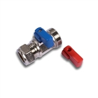 "15mm x ¾"" Straight Washing Machine Valve Chrome"