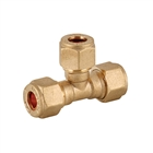 Compression Fitting Equal Tee 15mm