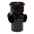 Polypipe Soil & Vent 110mm Boss Pipe Black SJ454