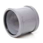 Polypipe Soil & Vent 110mm Double Socket Grey SH44