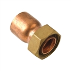 """Endfeed Fitting Straight Tap Connector 15mm x ½"""""""