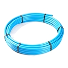Blue Polyethylene MDPE BS6572 Underground Pipe 25mm x 25m Coil