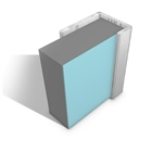 Multipanel Type C End Cap Satin Anodised