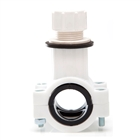 Polypipe 21½mm Condensate Waste Saddle Fits 32mm & 40mm Pipe White WWS1