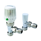 Honeywell Valencia 15mm Angled Thermostatic Radiator Valve & Lockshield (Twin Pack)