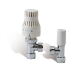 Salus 15mm Angled Thermostatic Radiator Valve & Lockshield Pack with Reducer TRV31LS5