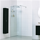 8mm Wetroom Glass Panel with Exposed Profile 700mm x 2000mm