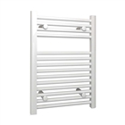 Instinct Flat Towel Rail 500mm x 800mm White 22mm Bar