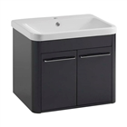 Instinct IOS 600 Wall Mounted 2 Door Basin Unit Anthracite