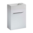 Instinct Milos 400 Wall Mounted Basin Unit White with Basin