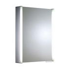 Single Door Aluminium Cabinet with Integrated Lighting 544mm x 700mm x 135mm