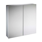 Double Door Aluminium Cabinet with Soft Close Doors 600mm x 650mm x 130mm