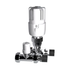 Instinct 15mm Straight Thermostatic Radiator Valve White/Chrome (Twin Pack)