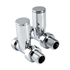 Instinct 15mm Modern Straight Radiator Valve Chrome (Pair)