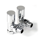 Instinct 15mm Modern Angled Radiator Valve Chrome (Pair)