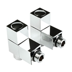 Instinct 15mm Square Angled Radiator Valve Chrome