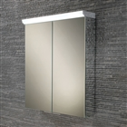 HiB Flare Double Door Aluminium Cabinet with LED Lighting 600mm x 700mm