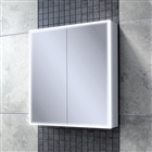 HiB Qubic 60 Double Door Cabinet with Charging Socket and LED Lighting 600mm x 700mm