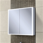 HiB Qubic 80 Double Door Cabinet with Charging Socket & LED Lighting 800mm x 700mm
