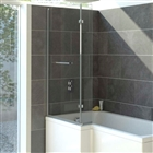 Solarna L Shaped Shower Bath Screen 850mm x 1400mm